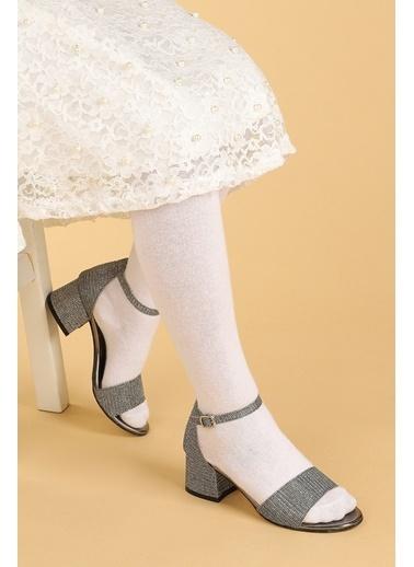 Kiko Kids Kiko 769 Çupra Günlük Kız Çocuk 3 Cm Topuk Sandalet Ayakkabı Gri